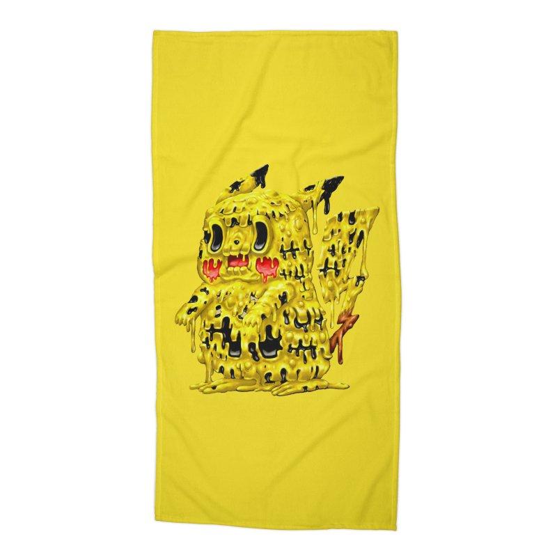 Melting Yellow Monster Accessories Beach Towel by villainmazk's Artist Shop