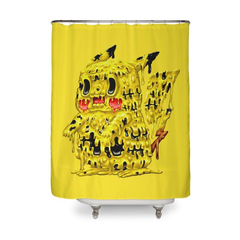 Melting Yellow Monster Home Shower Curtain by villainmazk's Artist Shop