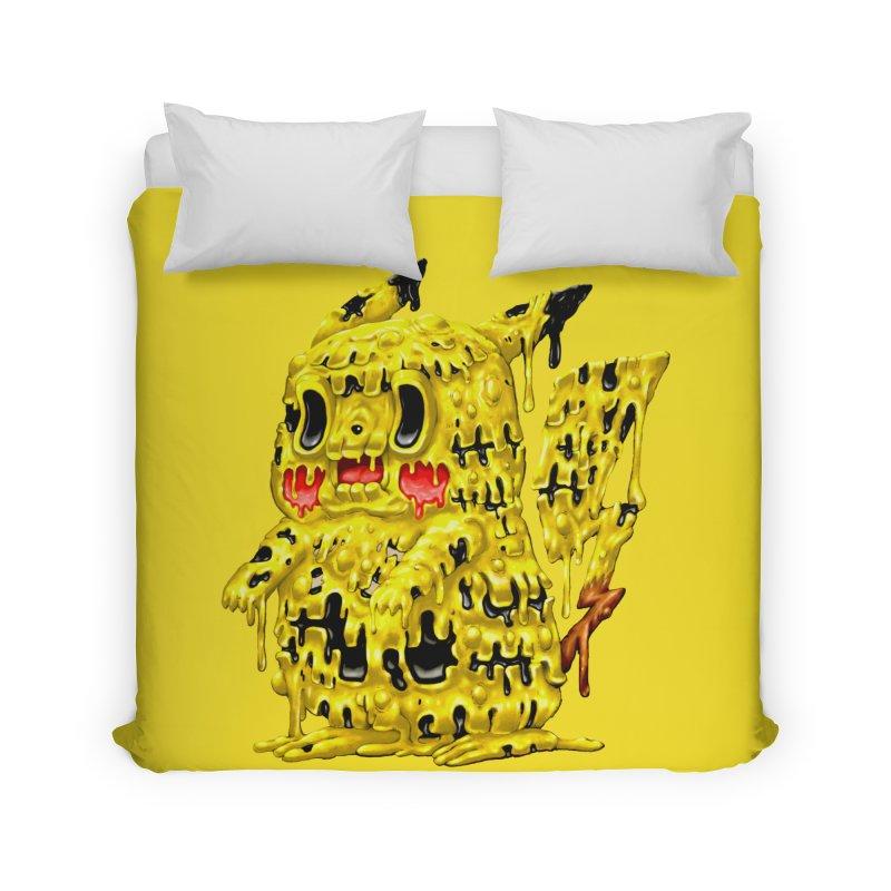 Melting Yellow Monster Home Duvet by villainmazk's Artist Shop