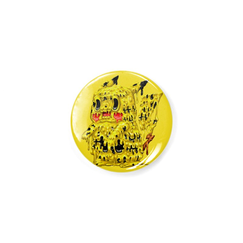 Melting Yellow Monster Accessories Button by villainmazk's Artist Shop