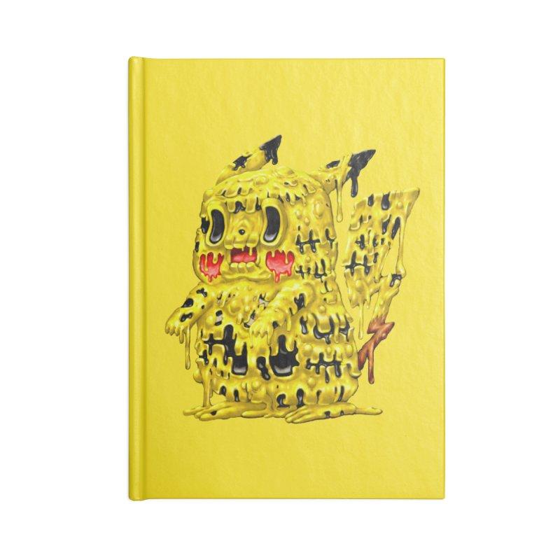 Melting Yellow Monster Accessories Lined Journal Notebook by villainmazk's Artist Shop
