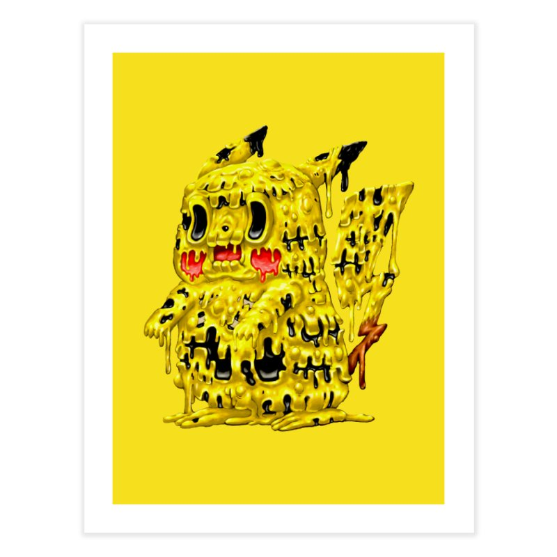 Melting Yellow Monster Home Fine Art Print by villainmazk's Artist Shop