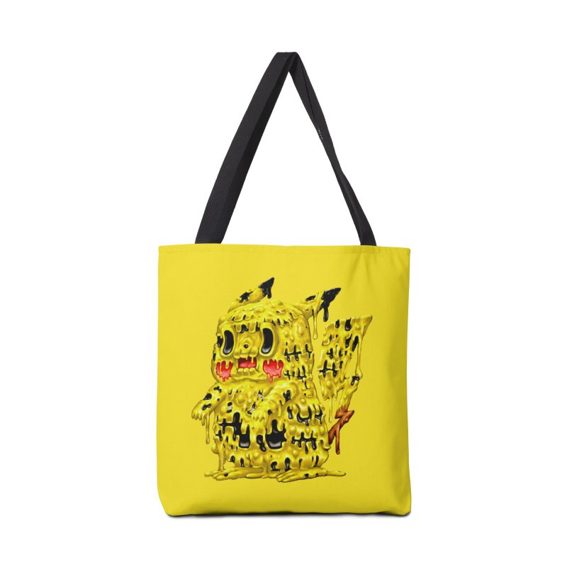 Melting Yellow Monster Accessories Tote Bag Bag by villainmazk's Artist Shop