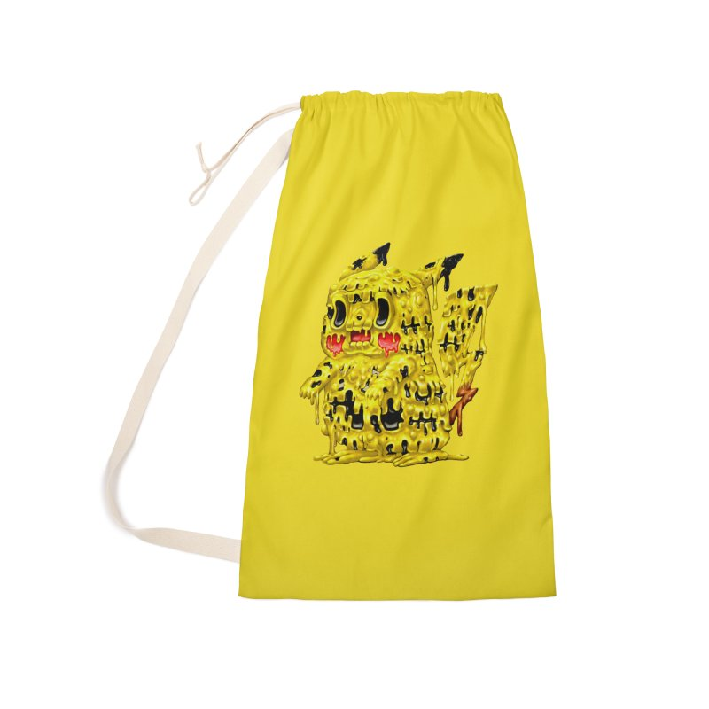 Melting Yellow Monster Accessories Laundry Bag Bag by villainmazk's Artist Shop