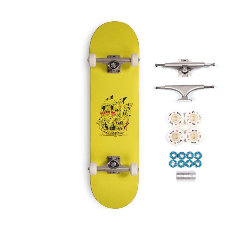 Melting Yellow Monster Accessories Skateboard by villainmazk's Artist Shop