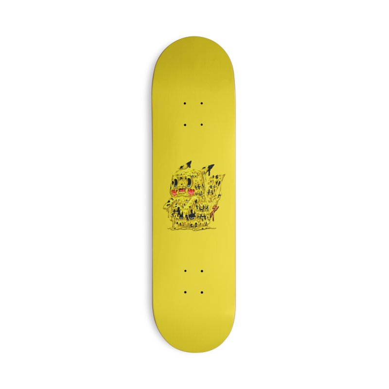 Melting Yellow Monster Accessories Deck Only Skateboard by villainmazk's Artist Shop
