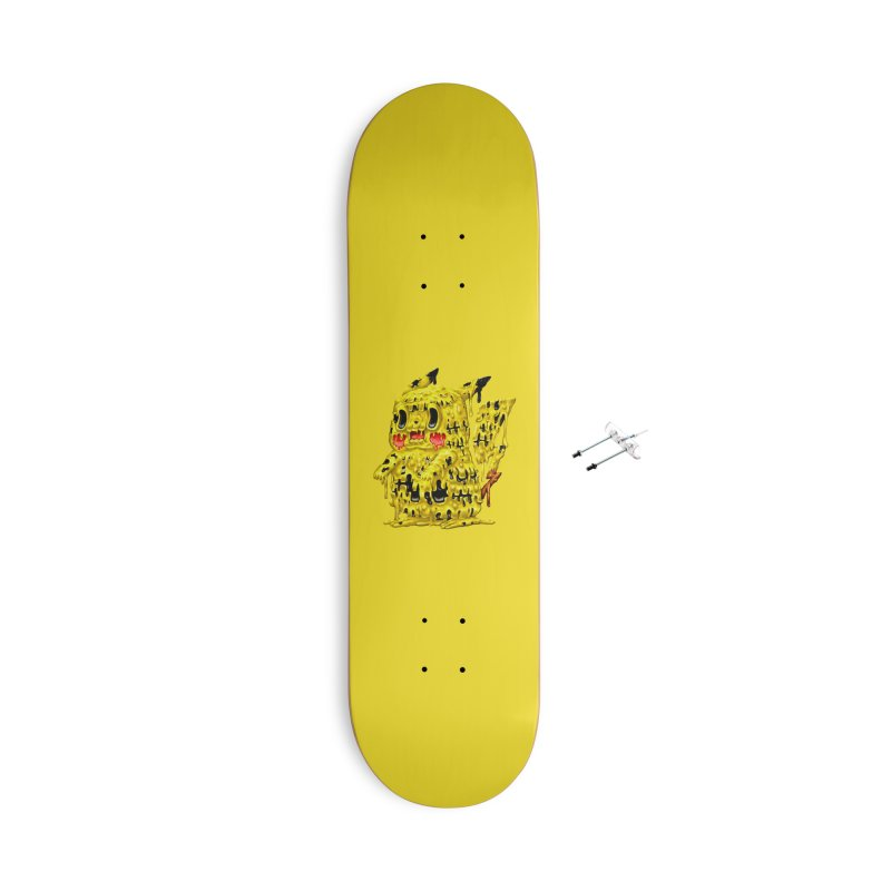 Melting Yellow Monster Accessories With Hanging Hardware Skateboard by villainmazk's Artist Shop