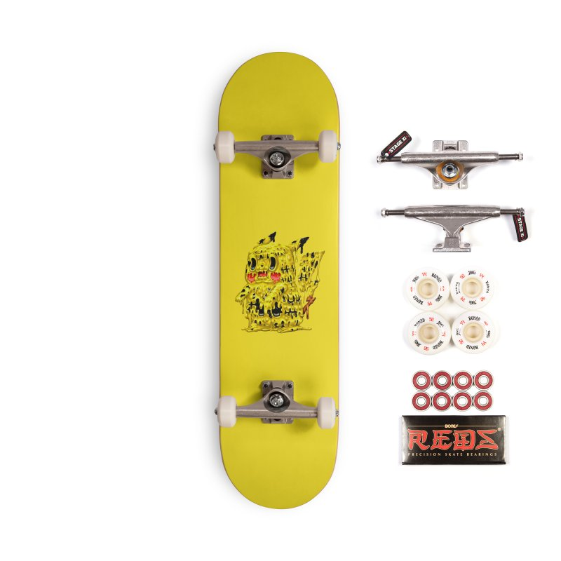 Melting Yellow Monster Accessories Complete - Pro Skateboard by villainmazk's Artist Shop