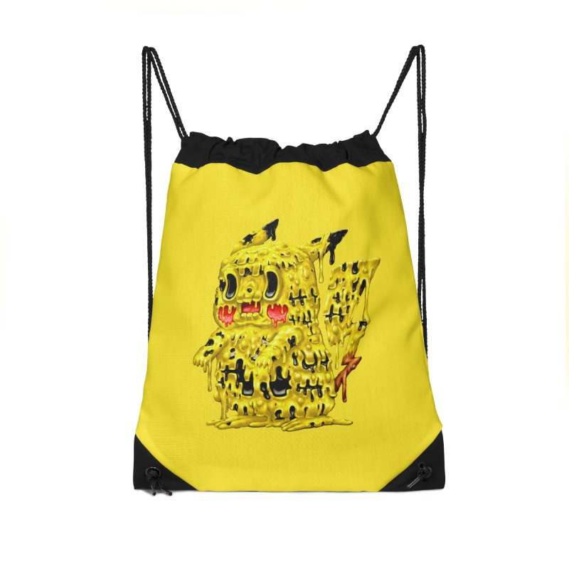 Melting Yellow Monster Accessories Drawstring Bag Bag by villainmazk's Artist Shop