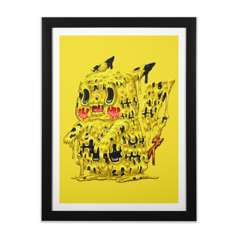 Melting Yellow Monster Home Framed Fine Art Print by villainmazk's Artist Shop
