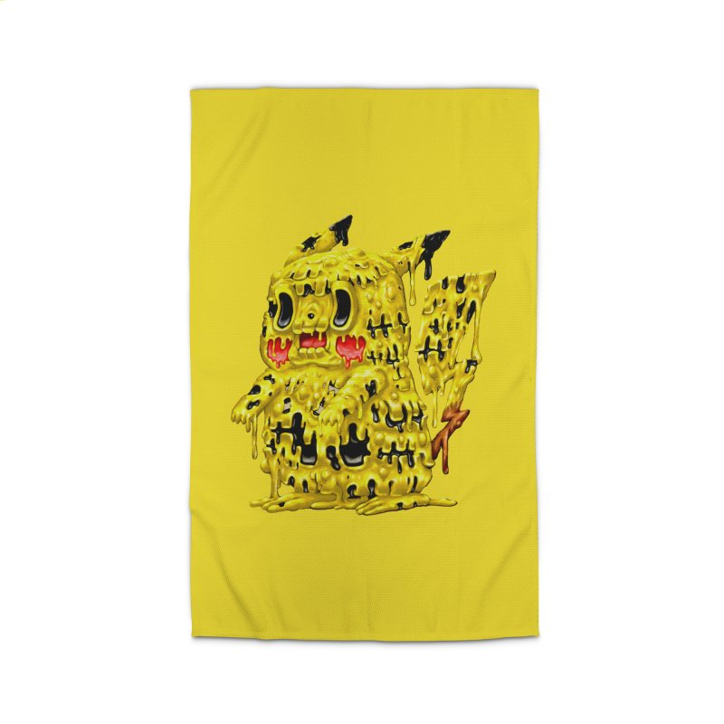 Melting Yellow Monster Home Rug by villainmazk's Artist Shop