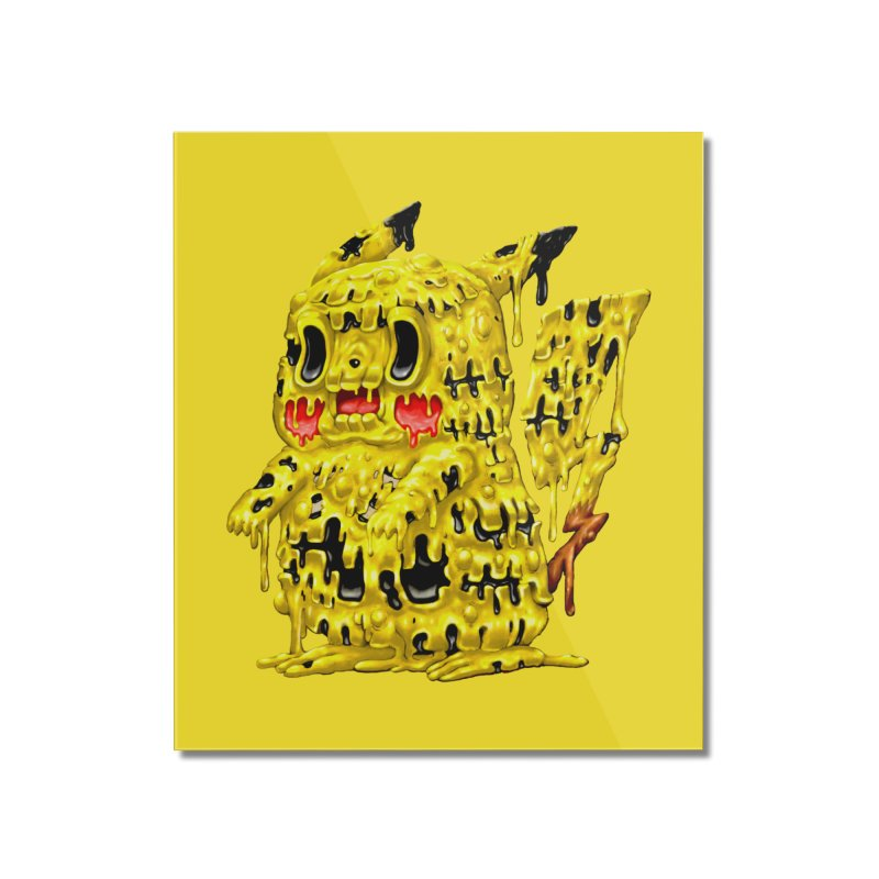 Melting Yellow Monster Home Mounted Acrylic Print by villainmazk's Artist Shop