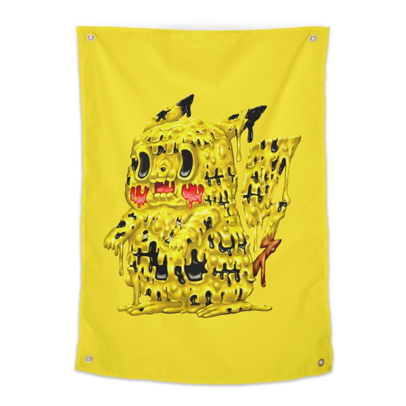 Melting Yellow Monster Home Tapestry by villainmazk's Artist Shop