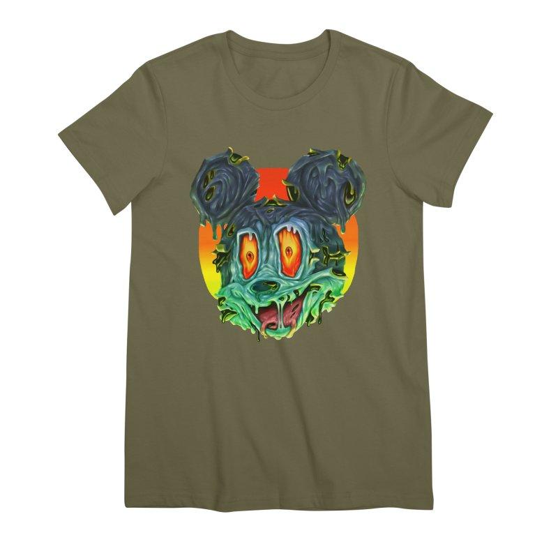 Horror Mouse Women's Premium T-Shirt by villainmazk's Artist Shop
