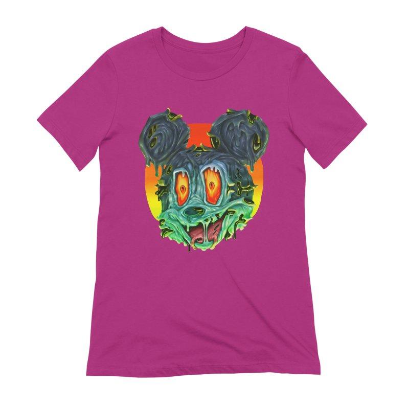 Horror Mouse Women's Extra Soft T-Shirt by villainmazk's Artist Shop