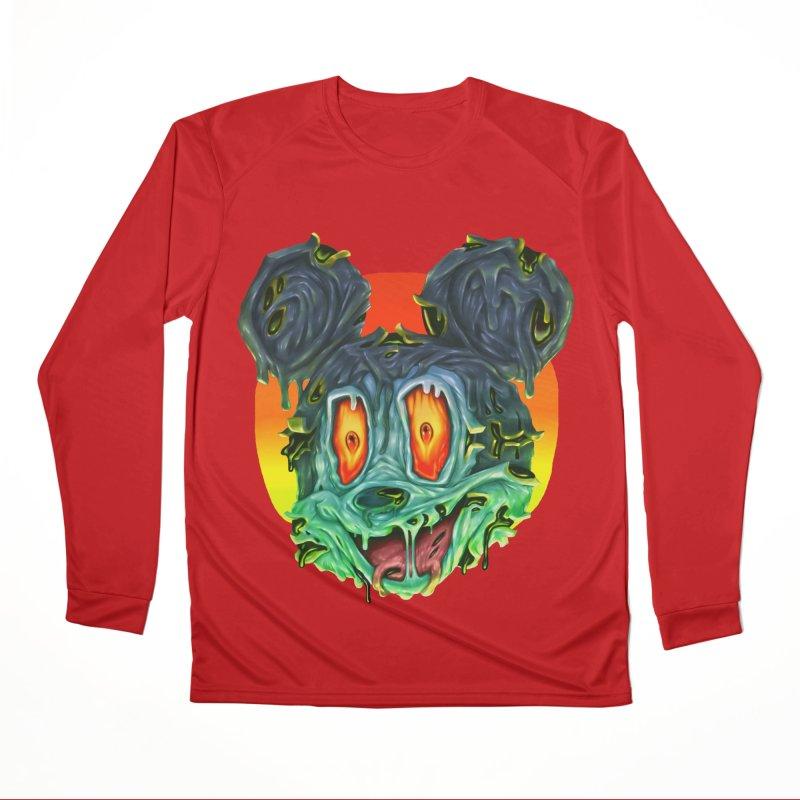 Horror Mouse Women's Performance Unisex Longsleeve T-Shirt by villainmazk's Artist Shop