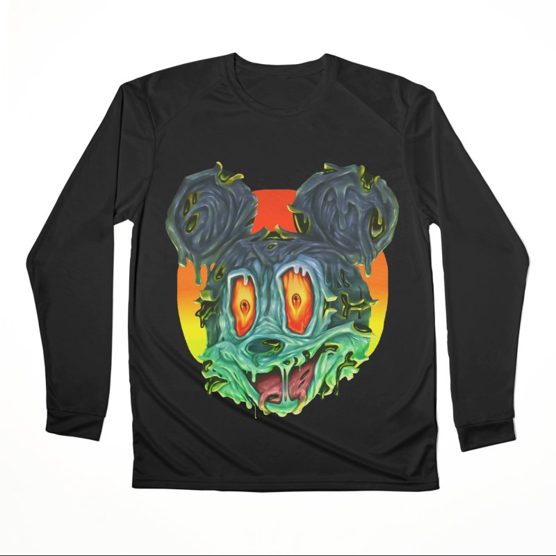 Horror Mouse Men's Performance Longsleeve T-Shirt by villainmazk's Artist Shop