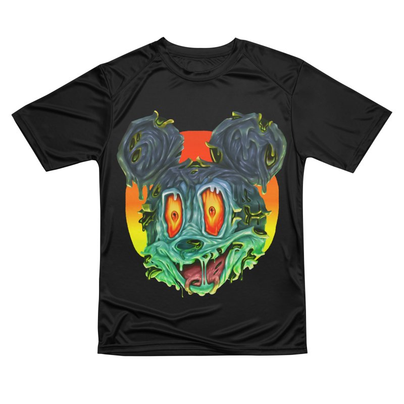 Horror Mouse Women's Performance Unisex T-Shirt by villainmazk's Artist Shop