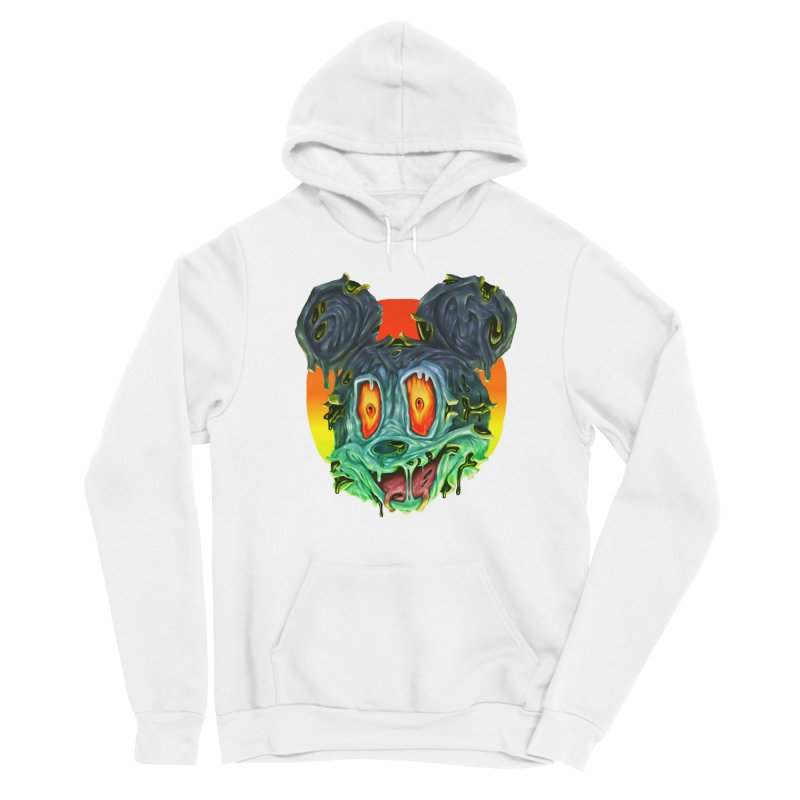 Horror Mouse Men's Sponge Fleece Pullover Hoody by villainmazk's Artist Shop