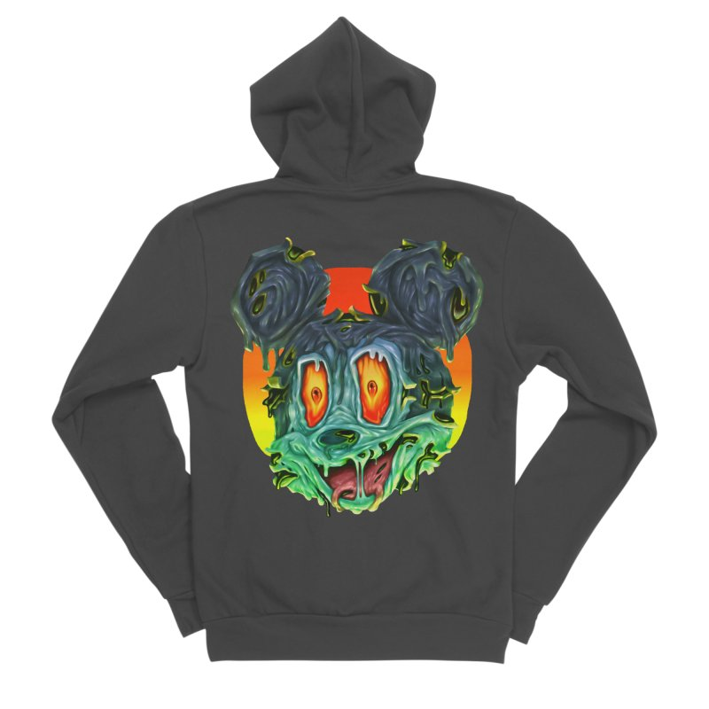 Horror Mouse Men's Sponge Fleece Zip-Up Hoody by villainmazk's Artist Shop