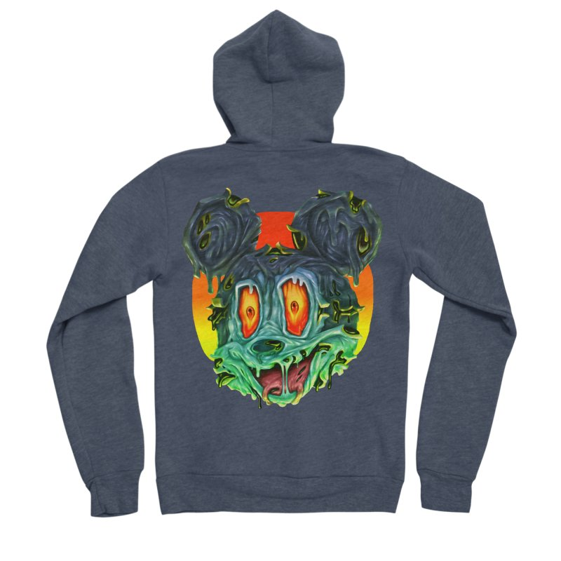Horror Mouse Women's Sponge Fleece Zip-Up Hoody by villainmazk's Artist Shop