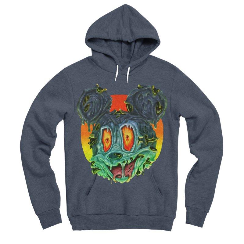 Horror Mouse Men's Sponge Fleece Pullover Hoody by villainmazk's Artist Shop