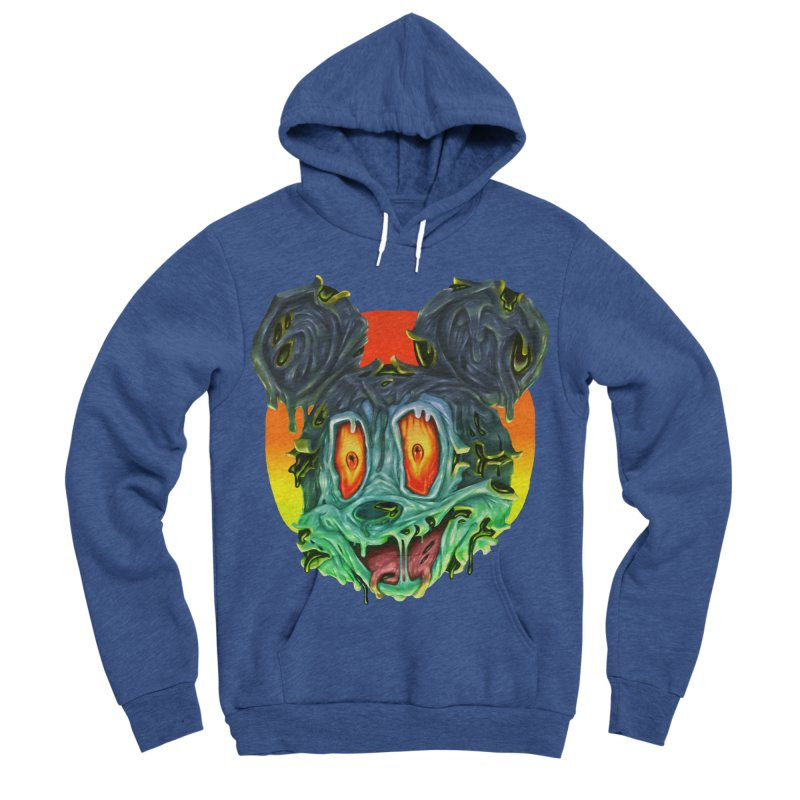 Horror Mouse Women's Sponge Fleece Pullover Hoody by villainmazk's Artist Shop