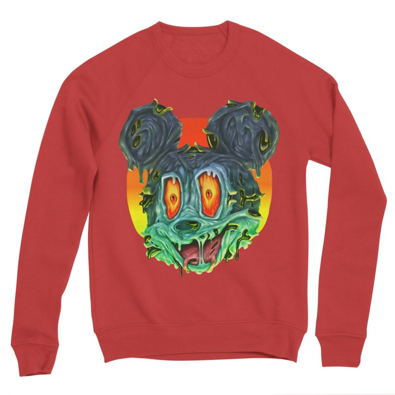 Horror Mouse Women's Sponge Fleece Sweatshirt by villainmazk's Artist Shop