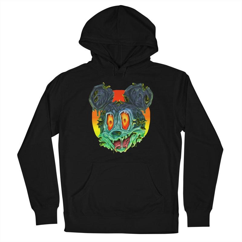 Horror Mouse Women's French Terry Pullover Hoody by villainmazk's Artist Shop