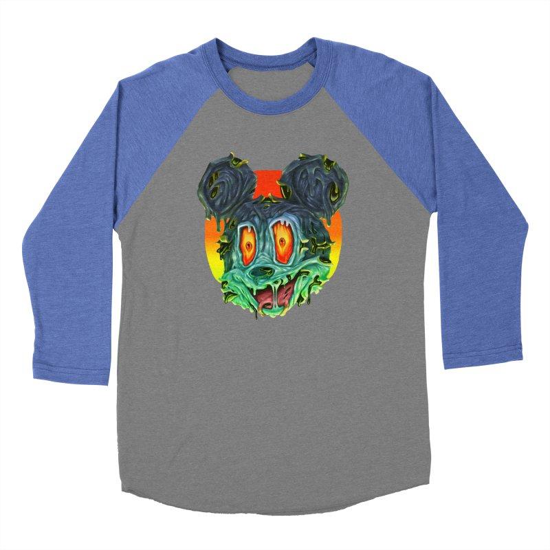 Horror Mouse Women's Baseball Triblend Longsleeve T-Shirt by villainmazk's Artist Shop