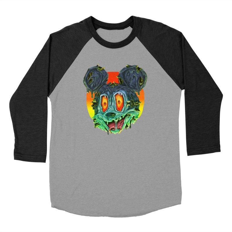 Horror Mouse Men's Baseball Triblend Longsleeve T-Shirt by villainmazk's Artist Shop