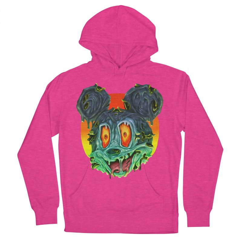 Horror Mouse Men's French Terry Pullover Hoody by villainmazk's Artist Shop
