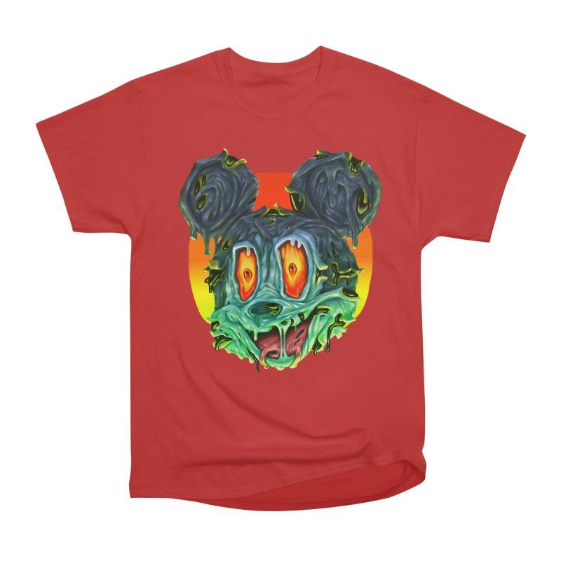 Horror Mouse Women's Heavyweight Unisex T-Shirt by villainmazk's Artist Shop