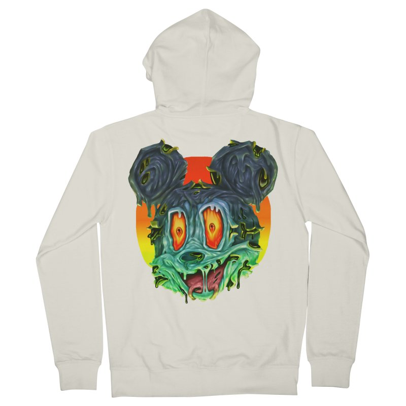 Horror Mouse Women's French Terry Zip-Up Hoody by villainmazk's Artist Shop