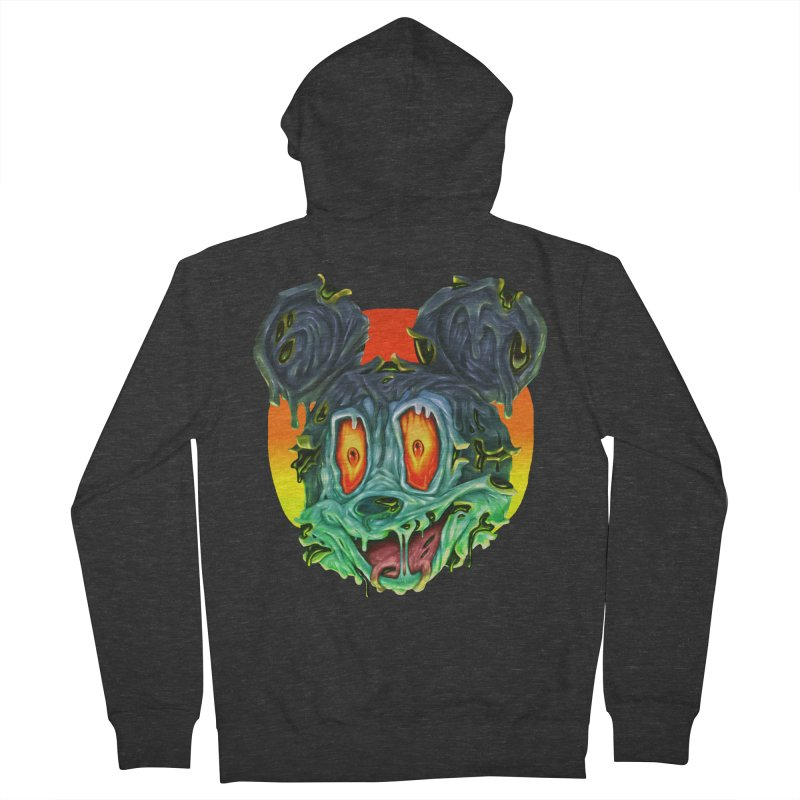 Horror Mouse Men's French Terry Zip-Up Hoody by villainmazk's Artist Shop