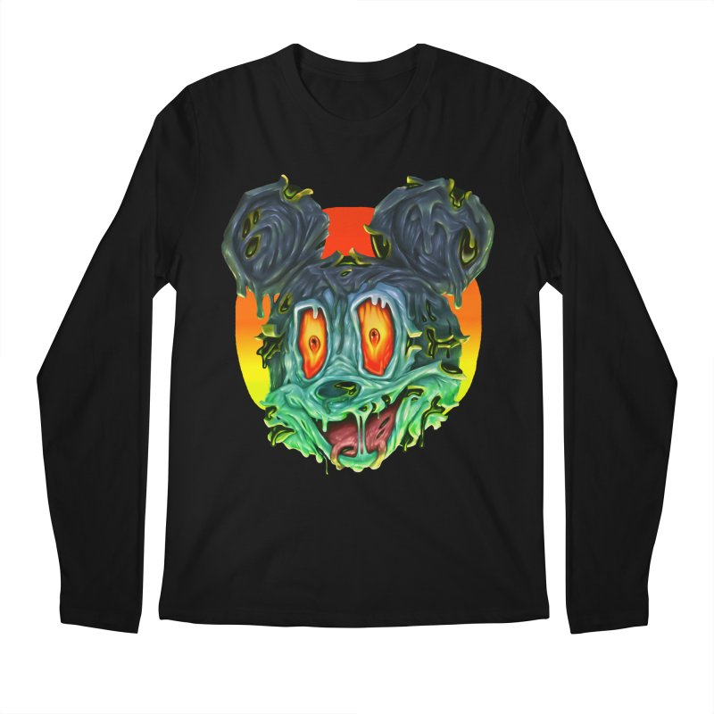 Horror Mouse Men's Regular Longsleeve T-Shirt by villainmazk's Artist Shop