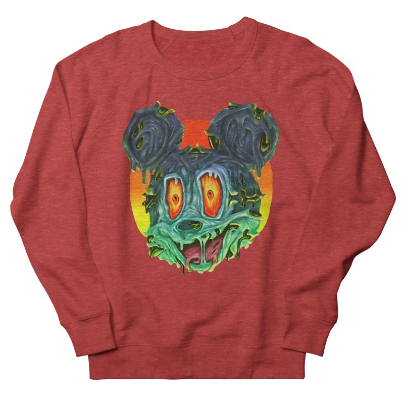 Horror Mouse Men's French Terry Sweatshirt by villainmazk's Artist Shop