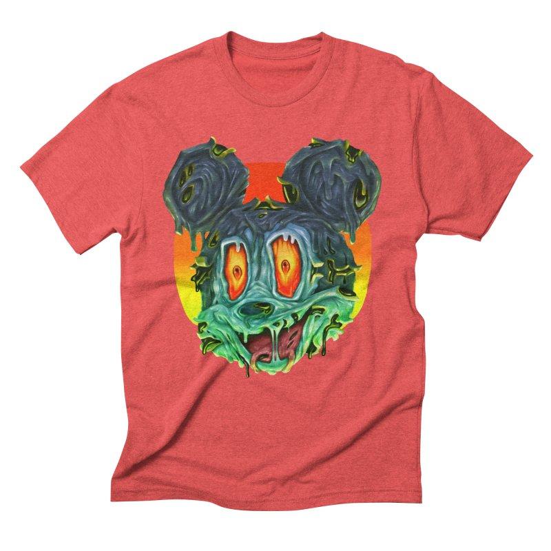 Horror Mouse Men's Triblend T-Shirt by villainmazk's Artist Shop