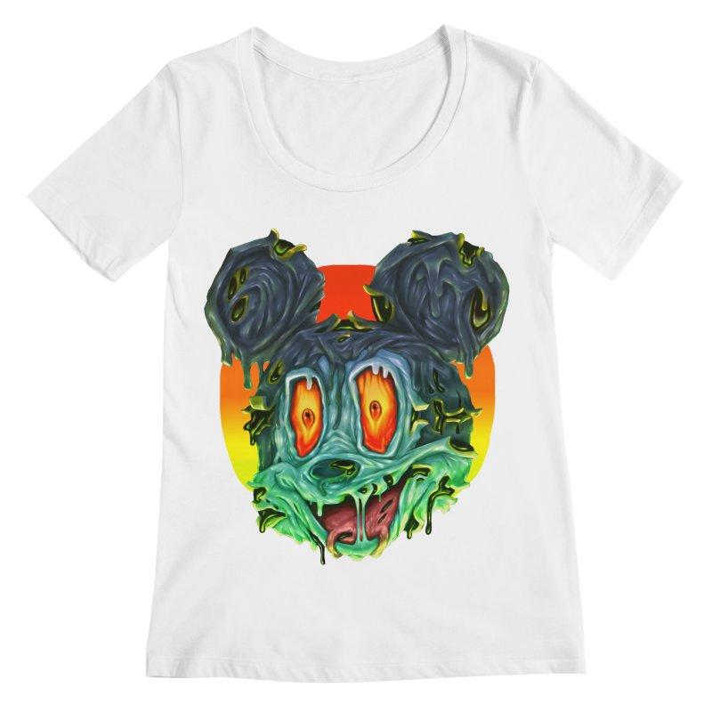 Horror Mouse Women's Regular Scoop Neck by villainmazk's Artist Shop