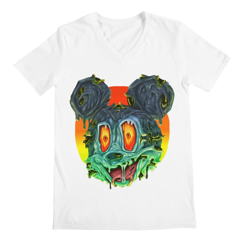 Horror Mouse Men's Regular V-Neck by villainmazk's Artist Shop