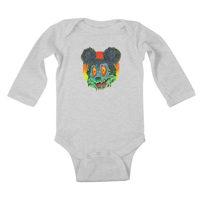 Horror Mouse Kids Baby Longsleeve Bodysuit by villainmazk's Artist Shop