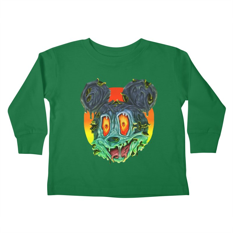 Horror Mouse Kids Toddler Longsleeve T-Shirt by villainmazk's Artist Shop