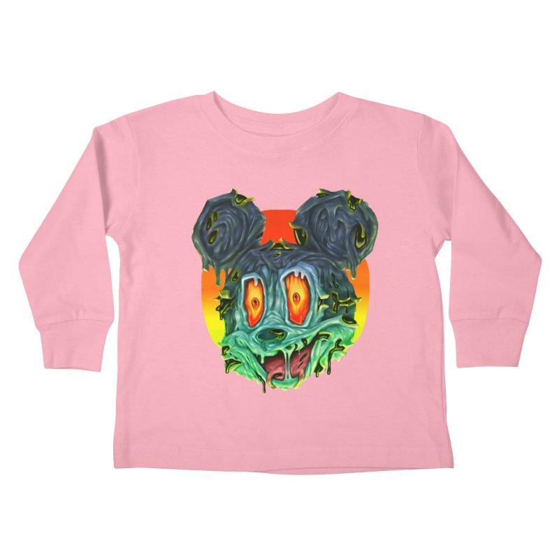 Horror Mouse Kids Toddler Longsleeve T-Shirt by villainmazk's Artist Shop