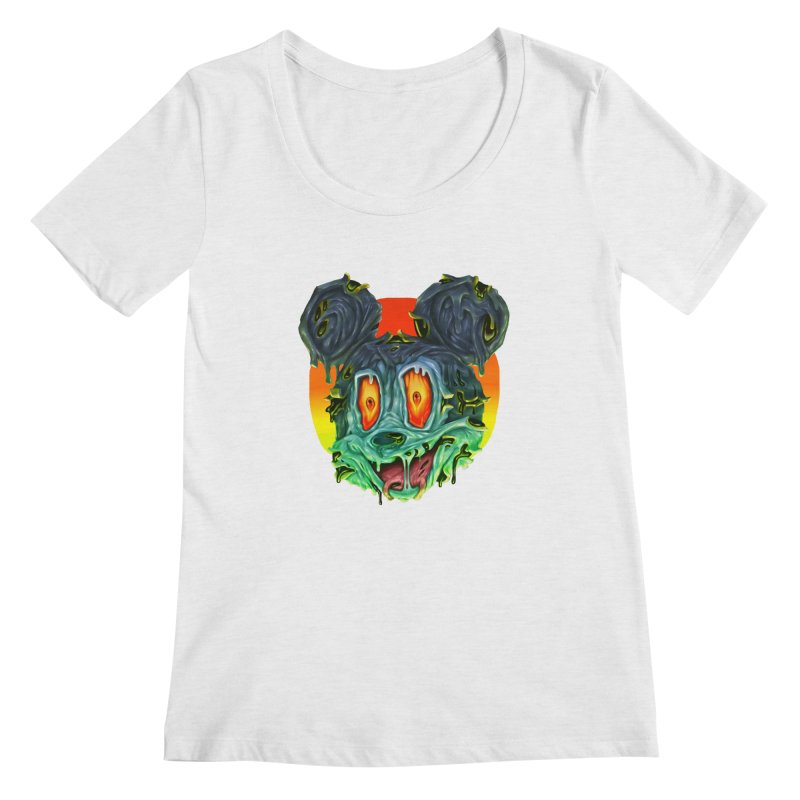 Horror Mouse Women's Regular Scoop Neck by villainmazk's Artist Shop