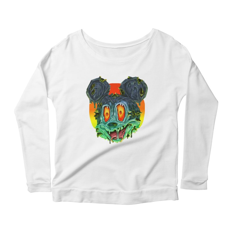 Horror Mouse Women's Scoop Neck Longsleeve T-Shirt by villainmazk's Artist Shop