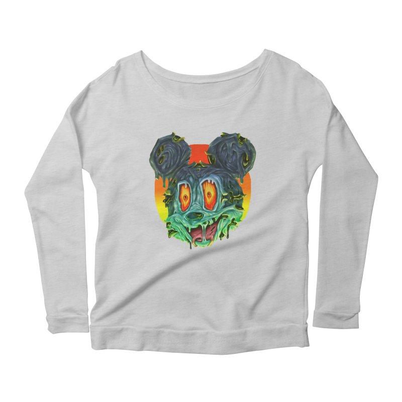 Horror Mouse Women's Scoop Neck Longsleeve T-Shirt by villainmazk's Artist Shop