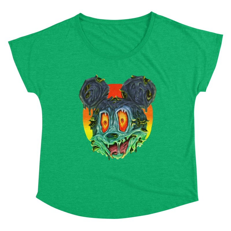 Horror Mouse Women's Dolman Scoop Neck by villainmazk's Artist Shop