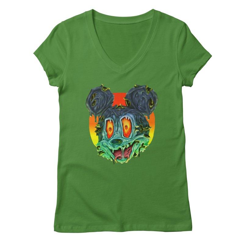 Horror Mouse Women's Regular V-Neck by villainmazk's Artist Shop