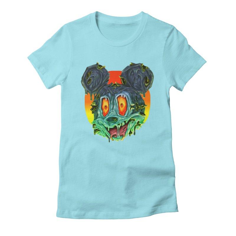 Horror Mouse Women's Fitted T-Shirt by villainmazk's Artist Shop