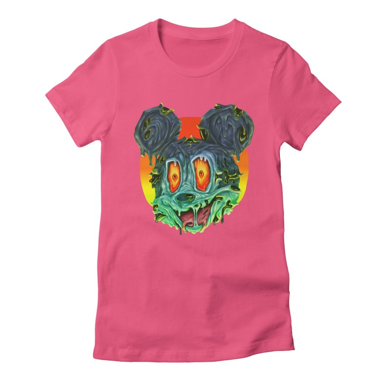 Horror Mouse Women's Fitted T-Shirt by villainmazk's Artist Shop